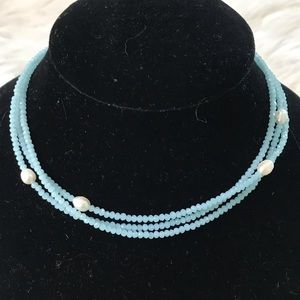 Jewelry - Choker or bracelet made with freshwater pearls
